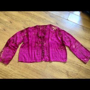 Vintage Tie dye lace up blouse